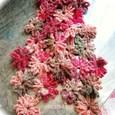 お花のモチーフマフラー