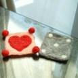 羊毛で作ったコースター